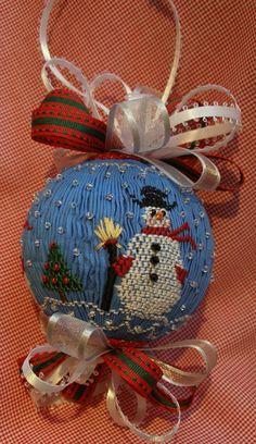 American Handmade English smocked ornament by grandcruefarm