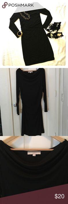 LOFT dress LOFT dress. Draped collar; long sleeve. Stretchy soft fabric. Super comfortable and super sexy!  LOFT Dresses Long Sleeve