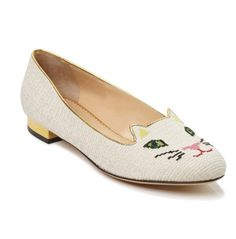 Purrrfect Charlotte Olympia flats for spring 2013.