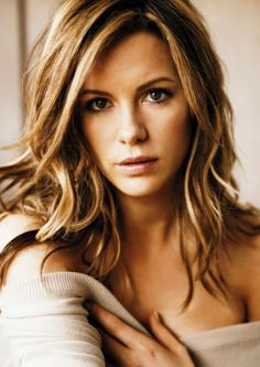 Kate Beckinsale-Beautiful  Love her hair