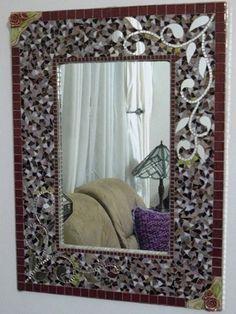 Large Rectangular mosaic mirror
