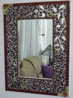 Large Rectangular mosaic mirror