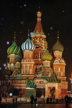 St. Basil's Cathedral in the Snow, Moscow