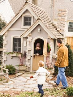Garden play house for kids. I'd like to live in this please.