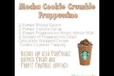 Secret Starbucks recipes: mocha cookie crumble frappucino