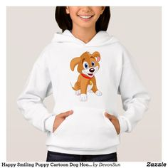 Happy Smiling Puppy Cartoon Dog Hoodie Presents For Girls, Gifts For Kids, Smiling Dogs, Dog Hoodie, Cartoon Dog, Happy Dogs, Dog Lovers, Puppies, Hoodies