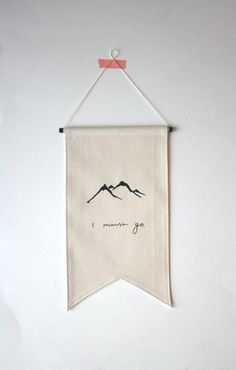 Mountains Banner - Small Canvas Banner