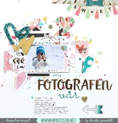Check out this amazing LO created by designer @christingronnslett Her layout is…