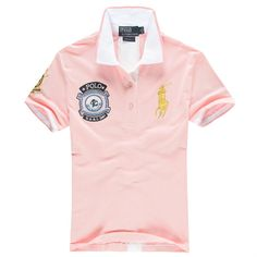Ralph Lauren Men\u0026#39;s US 1967 Short Sleeve Polo Shirt Pink http://www.