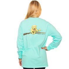 Retriever Long Sleeve Tee in Ocean Blue by The Southern Shirt Co.