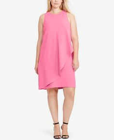 Lauren Ralph Lauren Plus Size Sleeveless Shift Dress
