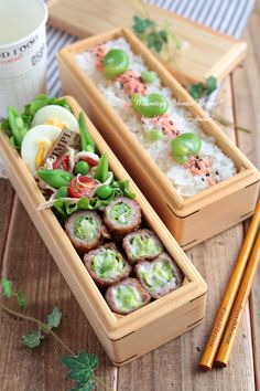 Japanese box lunch, Bento お弁当 by morgan Japanese Lunch Box, Japanese Food, Japanese Meals, Canapes Faciles, Kawaii Bento, Little Lunch, Japanese Kitchen, Bento Recipes, Bento Box Lunch