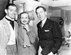 Walter Winchell, Carole Lombard, and Clark Gable. May 9, 1937