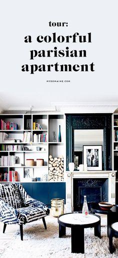 Tour a colorful Parisian apartment.
