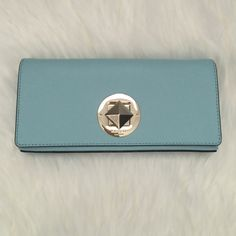 Kate Spade clutch NWT- Kate Spade clutch. Style: Kiera WKRU3365 Newbury line, color: blehydrnga (teal)  authentic. kate spade Bags Clutches & Wristlets
