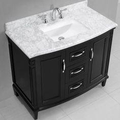 Bella 42 Inch Bathroom Vanity (Carrara/Charcoal Gray): In...  Https://smile.amazon.com/dp/B01MSJWMW4/refu003dcm_sw_r_pi_awdb_x_B569ybDR8XAMY  | Bathroom Remodel ...