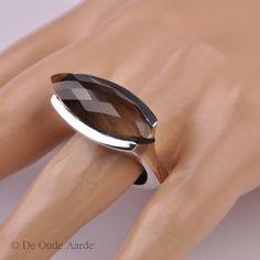 Smokey Quartz, Rookkwarts, ring, ringen, jewelry, De Oude Aarde