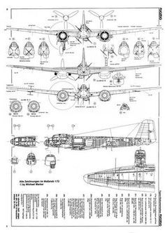 ww2 aircraft technical drawings - Google Search