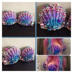 Mermaid Top, Mermaid Crown, Mermaid Tails, The Little Mermaid, Mermaid Bikini, Mermaid Style, Diy Costumes, Dance Costumes, Cosplay Costumes