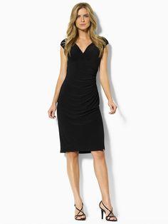 Ralph Lauren ● Lauren ● Gathered Empire-Waisted Dress v Day Dresses, Dresses Online, Short Dresses, Dresses For Work, Evening Dresses, Lil Black Dress, Ralph Lauren, Glamour, Timeless Fashion
