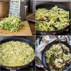 Krémové cuketové risotto Foto: P&G Foodies Risotto, Foodies, Grains, Ethnic Recipes, Seeds, Korn