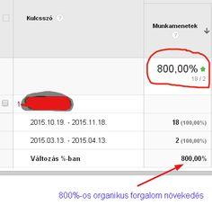 SEO case study: 800%-os organikus forgalom növekedés 9 hónap alatt
