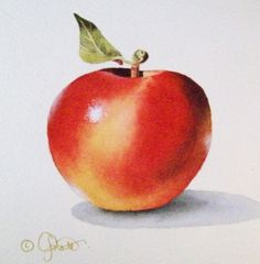 Another+Apple+for+Another+Teacher,+painting+by+artist+Jacqueline+Gnott