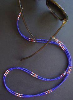 Glasses Chain Beaded, Eyeglass Holder, Glasses Chain, Eyeglass Chain, Sunglass S… - DIY Jewelry Pearl Ideen Seed Bead Jewelry, Diy Jewelry, Beaded Jewelry, Beaded Necklace, Jewelry Making, Beaded Bracelets, Waist Jewelry, Mermaid Jewelry, Eyeglass Holder