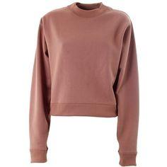 ACNE STUDIOS Bird Fl cotton sweatshirt ($146) ❤ liked on Polyvore featuring tops, hoodies, sweatshirts, sweaters, shirts, jumpers, pink, sweatshirts hoodies, zipper shirt and pink sweat shirt