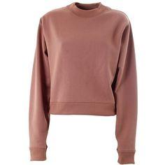 ACNE STUDIOS Bird Fl cotton sweatshirt (3310680 BYR) ❤ liked on Polyvore featuring tops, hoodies, sweatshirts, sweaters, sweatshirt, pink, red top, pink sweatshirt, pink top and zipper top