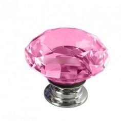 10db Vogue pink gyémánt Alak szekrény fogantyú