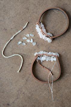 easy chunky leather bracelet tutorial by lebenslustiger.com, Anleitung für ein Lederarmband zum Selbermachen