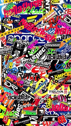 Wallpaper ( sticker bomb )