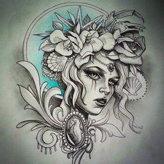 Neo Tattoo, Chest Tattoo, Tattoo Flash, Tattoo Sketches, Tattoo Drawings, Girl Tattoos, Tattoos For Women, Tatoos, Tattoo Gesicht