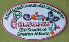 Girl Scouts Greater Atlanta 100th Anniversary Girlapalooza patch