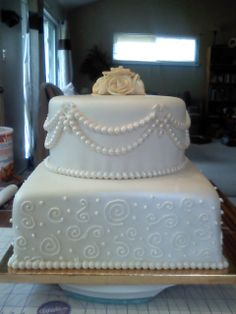 www.facebook.com/nikkiscreativeconfections 50th wedding anniversary cake