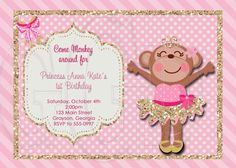 This is a super cute digital file Birthday Invitation. I will personalize it with your information, email it to you and you print it at your