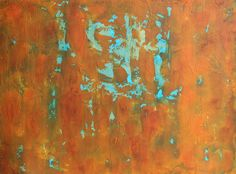 Abstract canvas started by using faux finish techniques. www.barbaracassidyartist.com