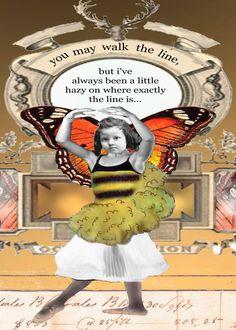 i spend most of my life straddling that line...    erin smith art copyright; erinsmithart.com