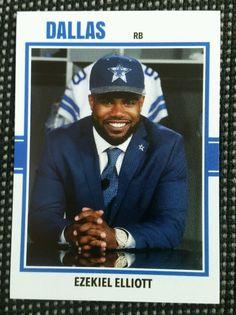 2016 Ezekiel Elliot Custom Dallas Cowboys Rookie Card Ohio state Buckeyes rc in Sports Mem, Cards & Fan Shop, Cards, Football | eBay