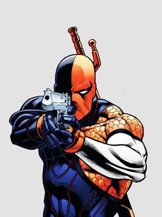 Slade Wilson in Deathstroke Deathstroke Batman, Deathstroke The Terminator, Dc Comics Superheroes, Marvel Dc Comics, Teen Titans, Detective Comics 1, Batman Drawing, Arte Nerd, Character Concept