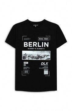 26455c2c0b8b T-shirt Berlin noir imprimé  MensT-shirts Berlin T Shirt