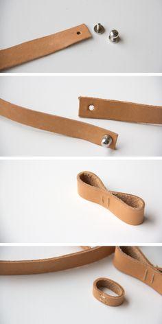 DIY Leather Bow Belt