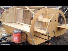 My first teardrop camper build. Small Camper Trailers, Slide In Camper, Off Road Camper Trailer, Build A Camper, Trailer Diy, Small Campers, Mini Camper, Airstream Trailers, Rv Campers