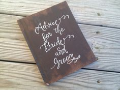 Wedding Guest Book Rustic Chic Wedding Calligraphy by PineNsign