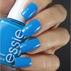 The gorgeous #Essie Strut Your Stuff swatches by @lacqueredlady ~ love! http://lacqueredlady.me/essie-strut-your-stuff-review-and-swatches/ #Blue #NOTD #Nails #NailPolish #BlueNails