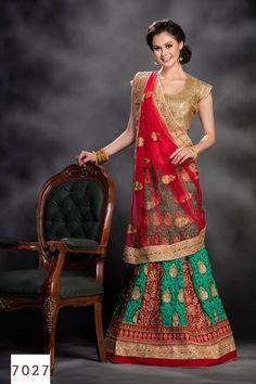 Latest wedding bridal embroidery bollywood designer reception girl lehenga choli #Handmade #Lehenga