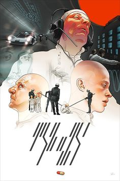 THX 1138 poster re-imagined by artist Martin Ansin Science Fiction, Agenda Cultural, Christian Artwork, Type Illustration, Kunst Poster, Movie Poster Art, Print Poster, Futuristic Art, Collage Making