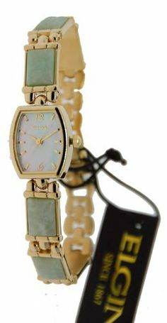 Elgin Jade Women's Watch with Extra Bracelet EG115ST Elgin. $79.00. Jade
