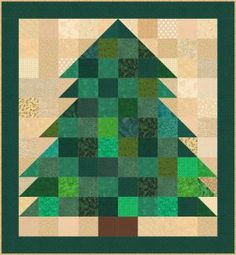 It's Easy to Sew a Miniature Christmas Tree Quilt: Scrappy Miniature Christmas Tree Quilt